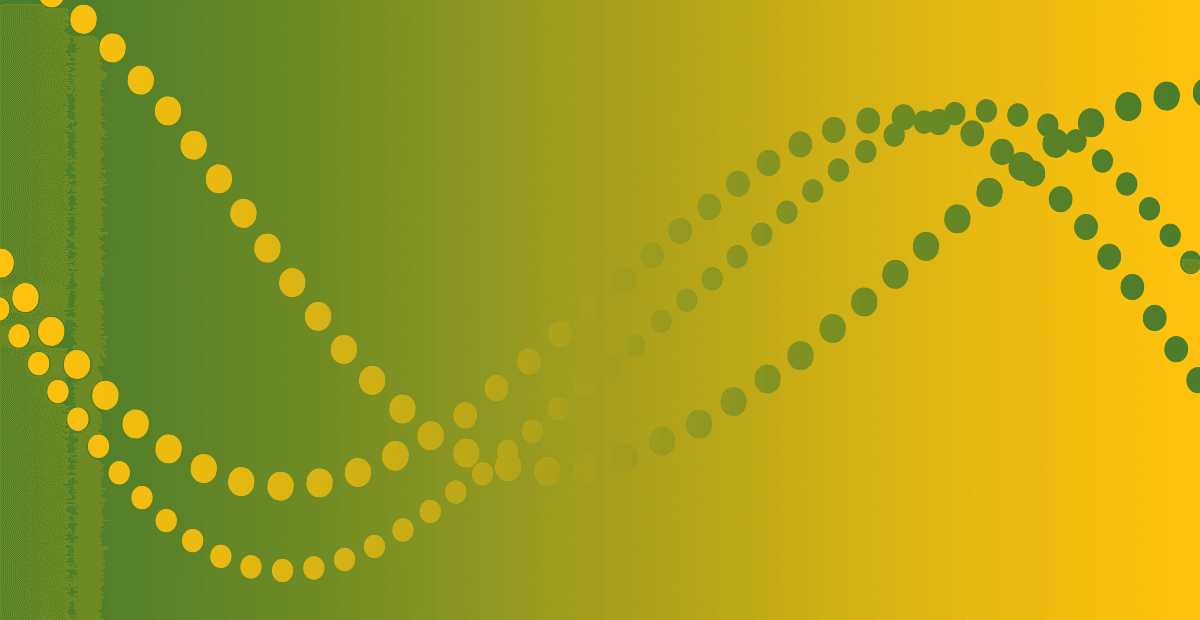 CIPD graphic banner - Lime-yellow gradient with yellow-lime beads